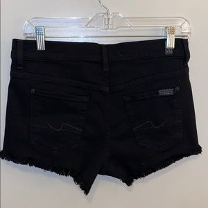 7 For All Mankind black cutoff jean shorts 26